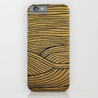 iPhone & iPod Case featuring Wind Gold Black by Sandra Arduini