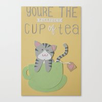 You're The Purrfect Cup … Canvas Print