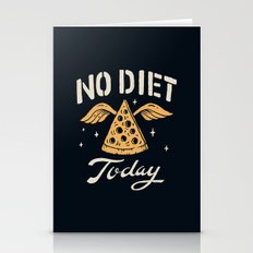 No Diet Today Stationery Cards