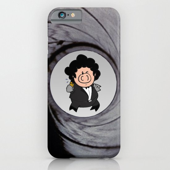 The pig with the golden gun iPhone & iPod Case