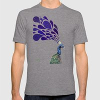 Peacock Mens Fitted Tee Tri-Grey SMALL