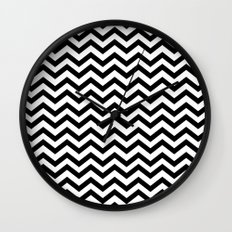 Keep Calm And Dream On (Zig Zag Chevron Black Lodge Floor, Twin Peaks) Wall Clock