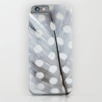 iPhone & iPod Case featuring Polka Dot Feather by Mina Teslaru