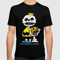Happiness Is A Tiger Mens Fitted Tee Black SMALL