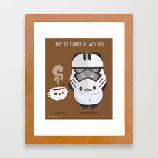 THE FURRCE IS STRONG Framed Art Print
