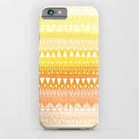 iPhone & iPod Case featuring Triangle Gradient Gold Mix by Katy Clemmans
