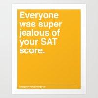 SAT Score Art Print
