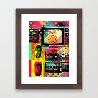 So retro Framed Art Print