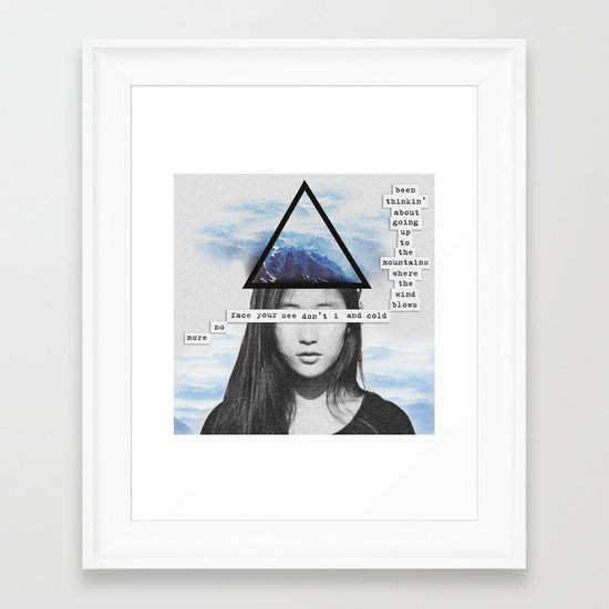 Up To the Mountains Framed Art Print
