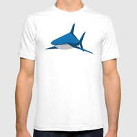 Shark Mens Fitted Tee White SMALL