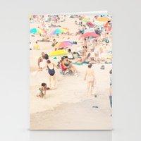 Beach Crowd Stationery Cards