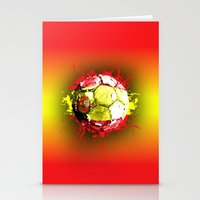 football  spain Stationery Cards