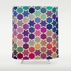 stars pattern Shower Curtain