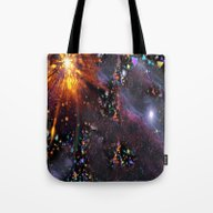 Triangles Space Tote Bag
