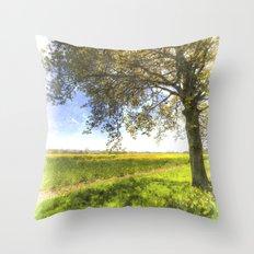 The Daffodil Summer Farm Art Throw Pillow