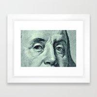 Benjamin Franklin Dollar… Framed Art Print
