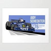 Jody Scheckter - 1976 An… Art Print