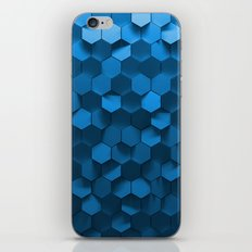 Blue Hexagon Abstract Pa… iPhone & iPod Skin
