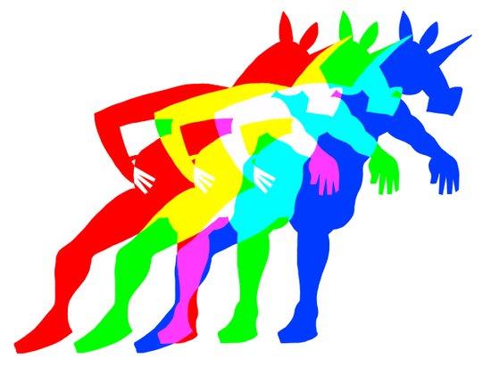 RGB Unicorn Art Print