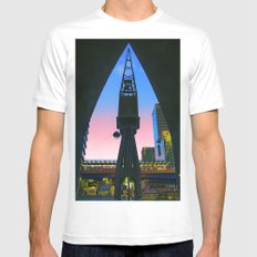 Crane Docklands London White Mens Fitted Tee SMALL