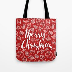 MERRY CHRISTMAS! - Red Pattern Tote Bag