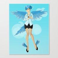Twitter Mascot Canvas Print