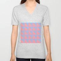 Pink Blue Peach Houndsto… Unisex V-Neck