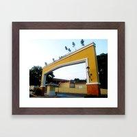 Spanish Style Entrance @… Framed Art Print