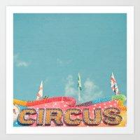 Circus Lights Art Print