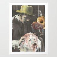 Burroughs Black Meat Art Print