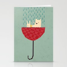Umbrella Bath Time! Stationery Cards
