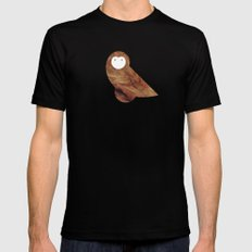 Minanimals: Owl Mens Fitted Tee SMALL Black