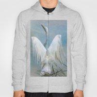 Egret Preparing To Launc… Hoody