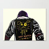 Just Watch Me Canvas Print