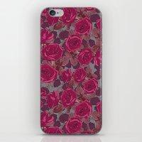 Roses In Mauve iPhone & iPod Skin