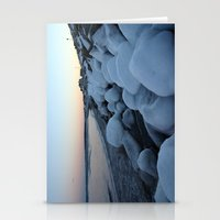 Snowballs on the Beach Stationery Cards