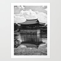 Anapji Pond, South Korea Art Print