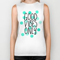 Good Vibes Only Biker Tank