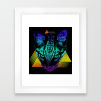 Rad Ocelot Framed Art Print