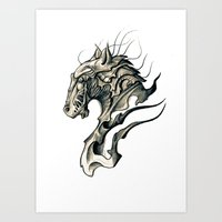 horse Art Prints featuring Horse by Nuam
