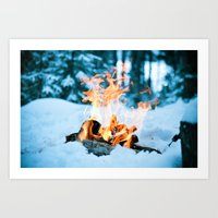 Ice And Fire Art Print