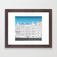 Dancing Houses, Amsterda… Framed Art Print