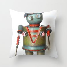 BitchBot Throw Pillow