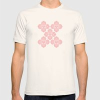 HEART PATTERN Mens Fitted Tee Natural SMALL