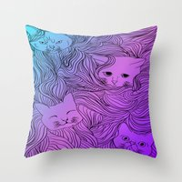 Shades of Cat Throw Pillow