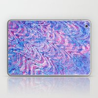 Blue Pink Curling Laptop & iPad Skin