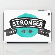 Stronger Every Day (dumbbell) iPad Case