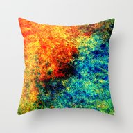 Abstract Painting Orange… Throw Pillow