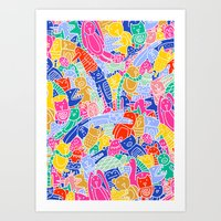 Art Print featuring ANIMAL PUZZLE by Ana Depuntillas