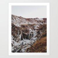 Frozen Falls Art Print